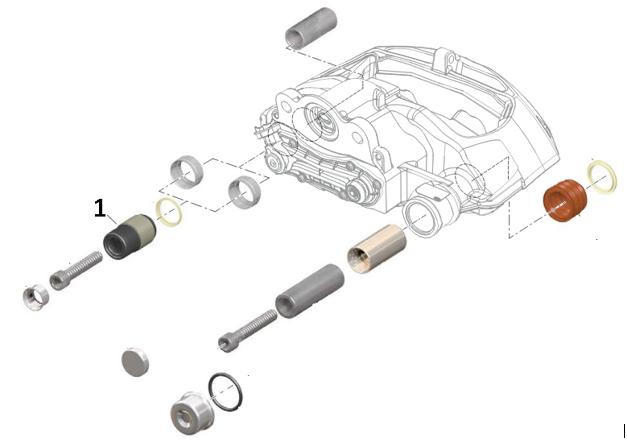 Ремонтный комплект тормозного суппорта KR.60.009.R1